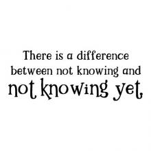 There is a difference between not knowing and not knowing yet wall quotes vinyl lettering wall decal home decor vinyl stencil kids learn teach classroom school