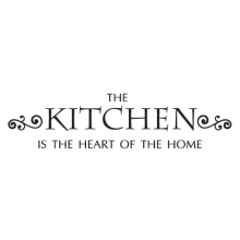The kitchen is the heart of the home wall quotes decal