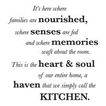 A Haven We Call Kitchen Wall Quotes™ Decal perfect for any home