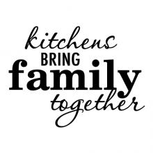 Kitchens bring family together wall quotes vinyl lettering kitchen cook eat dine gather gathering