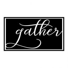 gather wall quotes vinyl lettering wall decal home decor kitchen dining room family