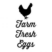 Farm Fresh Eggs {chicken} wall quotes vinyl lettering wall decal home decor farm farmhouse chicken coop farmers eat local food
