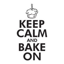 Keep Calm Bake On, great for any kitchen Wall Quotes™ Decal