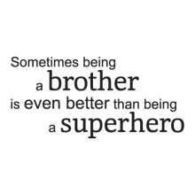 simple brother superhero wall decal