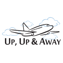 up up and away wall quotes decal