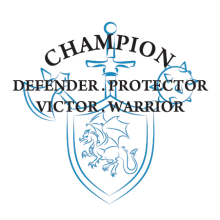 champion defender protector wall quotes decal