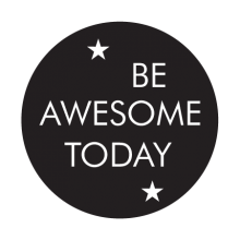 be awesome today kids wall decal