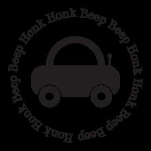 Honk Honk Beep Beep car vinyl wall decal