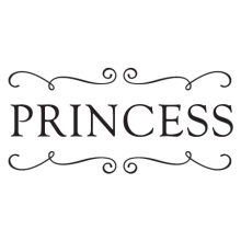 princess and scrolls wall decal