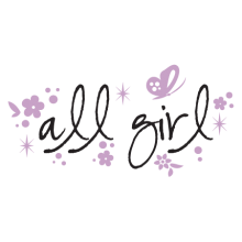 all girl flowers wall decal