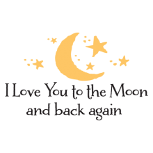 love you to the moon liam wall decal