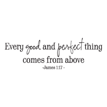 every good and perfect thing wall decal