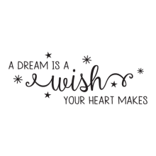 Dream is a Wish Amelia Wall Quotes™ Decal, a dream is a wish your heart makes, disney, cinderella, kids room,