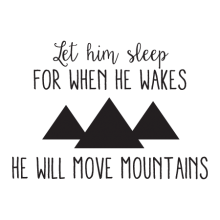 Let Him Sleep Whimsical Wall Quote™ Decal perfect for any nursery