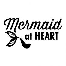 Mermaid at heart wall quotes vinyl lettering wall decal girly kids fantasy mythical ocean