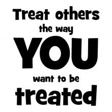 Treat others the way you want to be treated wall quotes vinyl lettering wall decal teach teacher class classroom learn education school