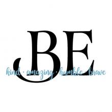 Be kind • amazing • humble • brave wall quotes vinyl lettering wall decal home decor kids inspiration be amazing be humble be brave