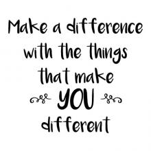 Make a difference with the things that make you different wall quotes vinyl lettering wall decal home decor kids kidsroom playroom play unique