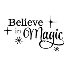Believe in Magic wall quotes vinyl lettering wall decal home decor vinyl stencil kids girly sparkles disney fairy princess