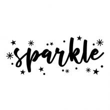 sparkle {sparkles}  wall quotes vinyl lettering wall decal home decor vinyl stencil kids kid child children girl girly sparkles stars