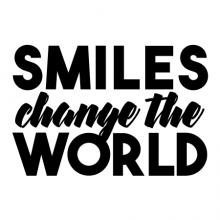 Smiles Change The World wall quotes vinyl lettering wall decal home decor vinyl stencil smile happy