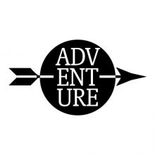 adventure in a circle with arrow wall quotes vinyl lettering wall decal home decor vinyl stencil kids children minimalist