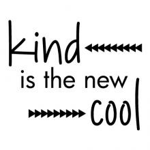 Kind is the new cool {arrows} wall quotes vinyl lettering wall decal home decor vinyl stencil kids class classroom golden rule