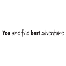 you are the best adventure wall quotes decal