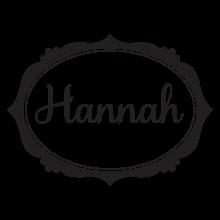 custom name and sweet frame wall decal