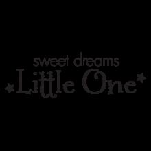 sweet dreams little one boy wall decal