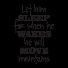 let him sleep retro script wall decal