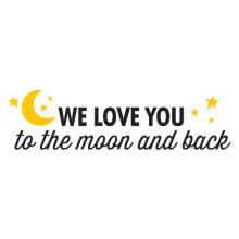 love you to the moo thirsty script wall decal