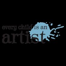 every child an artist splatter wall decal