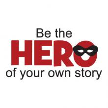 Be the Hero of Your Own Story superhero mask boys boy quotes wall quotes vinyl lettering vinyl decals