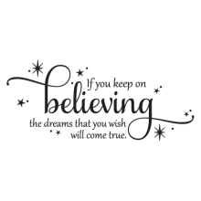 Keep On Believing Cinderella Dreams Vinyl Wall Decal