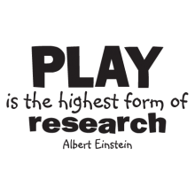 play is the highest form of research wall quotes decal