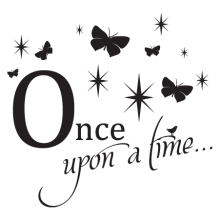 Once upon a time butterfly decal
