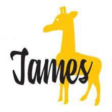 Giraffe custom name wall quotes vinyl decal zoo animal customize personalize