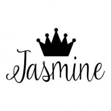 Crown and custom name wall quotes vinyl lettering vinyl decal princess fairy tale queen royal royalty monogram customization