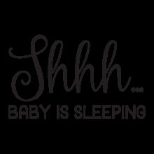 Shhh…baby is sleeping