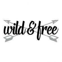 wild & free (arrows) wall quotes vinyl lettering wall decal home decor vinyl stencil kids nursery outdoors