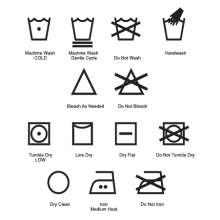 laundry symbols legend wall decal