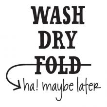 Wash dry fold ha! Maybe later laundry room washer dryer wall quotes vinyl decal decor