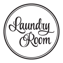 Laundry Room Script Double Circle inspirational for any home Wall Quotes™ Decal