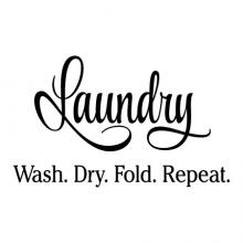Laundry Wash Dry Fold Repeat laundry room decal decor wall quotes vinyl decal washer dryer endless laundry