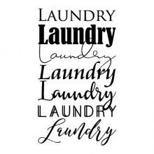 Laundry Laundry Laundry Laundry Laundry Laundry Laundry wall quotes vinyl decal wall decor vinyl stencil home decor laundry room