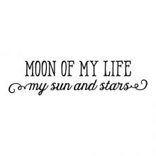 Moon of My Life Wall Quotes Decal, my sun and stars, game of thrones, love quote, khaleesi, khal drogo