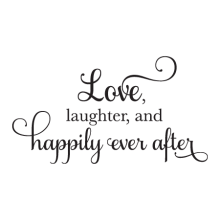 Happily Every After Elegant Script inspirational for any home Wall Quotes™Decal