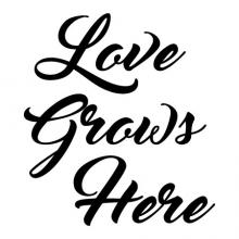 Love Grows Here Wall Quotes vinyl Decal