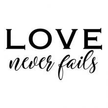 love never fails wall quotes vinyl lettering wall decal home decor vinyl stencil love marriage wedding corinthians